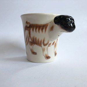 HANDPAINTED Pug Mug